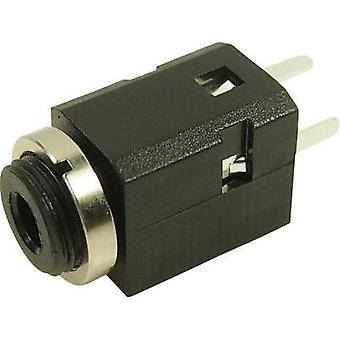 3.5 mm audio jack Socket, build-in Number of pins: 3 Black Cliff FC681375VH 1 pc(s)