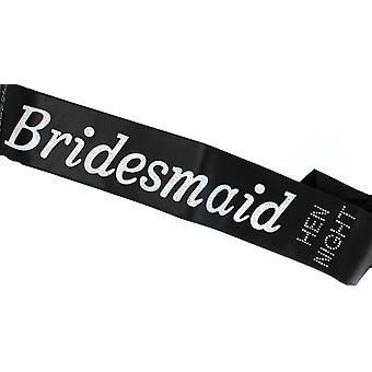 Hen Night �Bridesmaid� Black Sash �Hen Night� Diamante Stone Hen Party Accessory