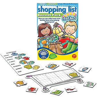 Orchard Toys Shopping List Booster Pack Clothes