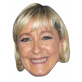 Marine Le Pen French Politician 2D Card Party Face Mask