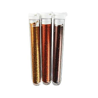 3 Pack Fine Glitter for Crafts - Browns or Golds | Craft Glitter
