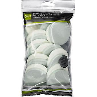 Qvs Makeup sponges Round 20 (Woman , Makeup , Brushes)