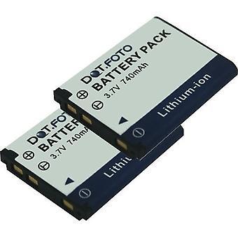 2 x Dot.Foto Vivitar 02491-0056-00, 02491-0057-00 Replacement Battery - 3.7v / 740mAh