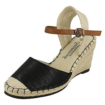 Ladies Savannah Snake Print Open Back Sandals