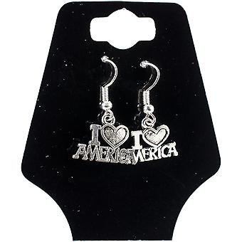 Charming Accents Wire Earrings-I Love America 22-800