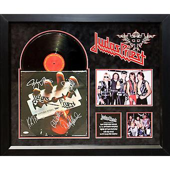 Judas Priest - British Steel - firmato Album LP Custom incorniciato
