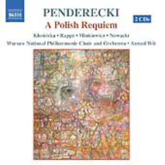 K. Penderecki - Krzysztof Penderecki: A Polish Requiem [CD] USA import