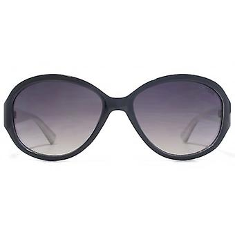 SUUNA Corinne Oval Plastic Sunglasses In Black On White