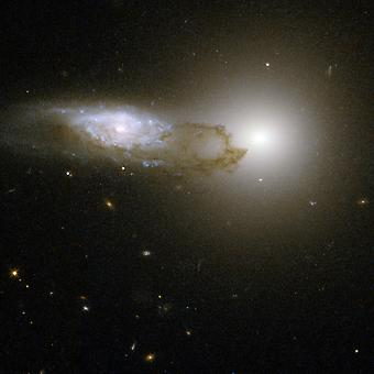 Hubble Telescope - Interacting Galaxy AM 1316-241 Poster Print Giclee