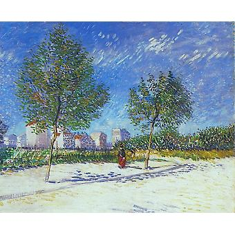 Vincent Van Gogh - On the Outskirts of Paris, 1887 Poster Print Giclee