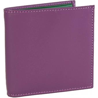 40 Colori Leather Wallet - Green/Purple