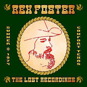 Rex Foster - mistede optagelser [CD] USA import