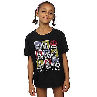Star Wars Girls der letzten Jedi Multi Zeichen T-Shirt