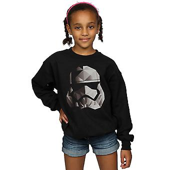 Star Wars Girls The Last Jedi Stormtrooper Mono Cubist Helmet Sweatshirt