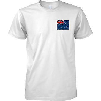 Nowa Zelandia zakłopotany Grunge efekt flaga Design - męskie piersi Design T-Shirt