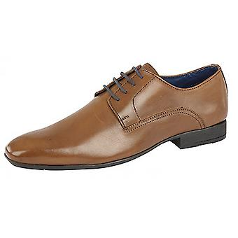 Route 21 Mens 4 Eye Plain Fashion Leather Gibson Shoes