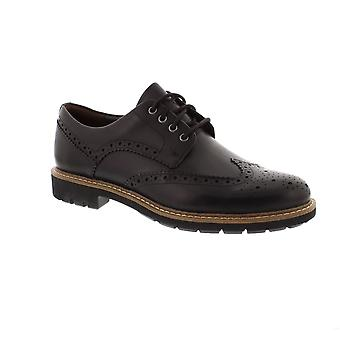 Clarks Batcombe Wing - Black Leather Mens Shoes