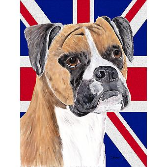 Boxer with English Union Jack British Flag Flag Garden Size
