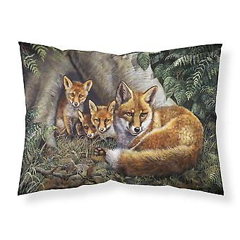 A Family of Foxes at Home Fabric Standard Pillowcase