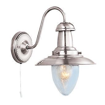 Searchlight 5331-1SS Fisherman Satin Silver Wall Light
