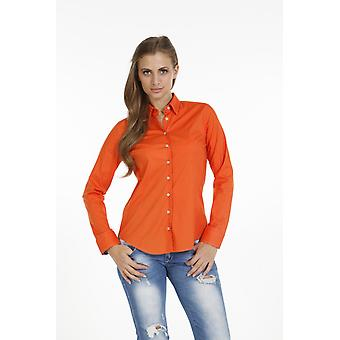 Pontto Damen-Bluse Pink Line Collection orange