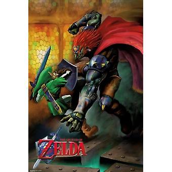 Легенда о Zelda Link V Ganondorf Плакат Плакат Печать