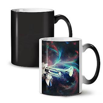Trompete Klang neue schwarz verfärben sich verändernden Tee Kaffee Keramik Becher 11 oz   Wellcoda