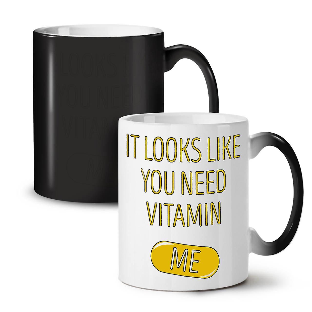 OzWellcoda Me Nouvelle Café Thé Vitamine Couleur Noire Changeant 11 Tasse Joke Obtenez Céramique mOv0nwN8