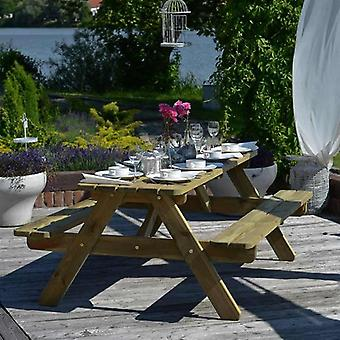 BrackenStyle 8 Seat Pine Picnic Table