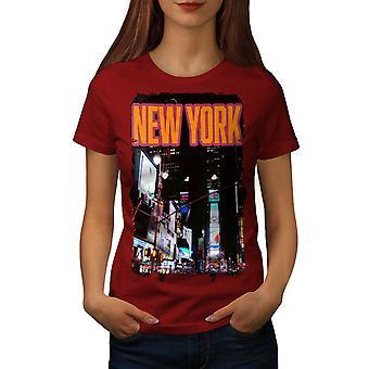 New York natt liv USA kvinnor RedT-skjorta | Wellcoda