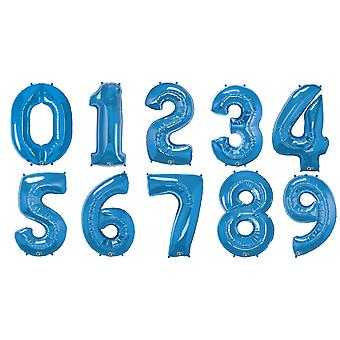 Qualatex 34 Inch Metallic Sapphire Number Balloons (0-9)