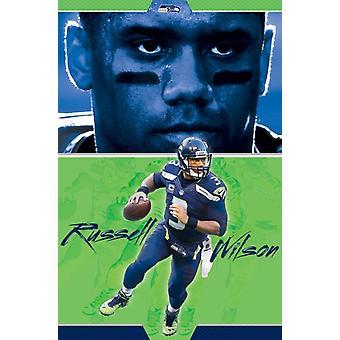 Seattle Seahawks - Russel Wilson 16 Poster Print