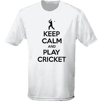 Mantener la calma y jugar Cricket para hombre camiseta 10 colores (S-3XL) por swagwear
