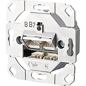 Network outlet Flush mount Insert CAT 6 2 ports Me
