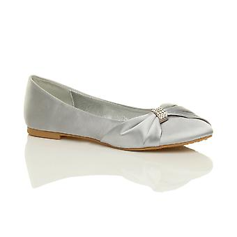Ajvani womens wedding bridal prom evening ballerina ballet flats dolly shoes
