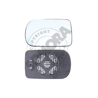 Left / Right Blue Mirror Glass (heated) & Holder for BMW 5 1995-2003