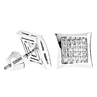 Iced out bling micro pave earrings - KITE 10 mm