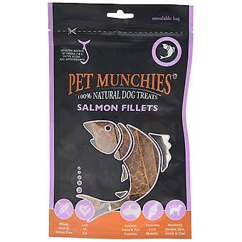 Munchies hund behandle laks fileter, 90 g