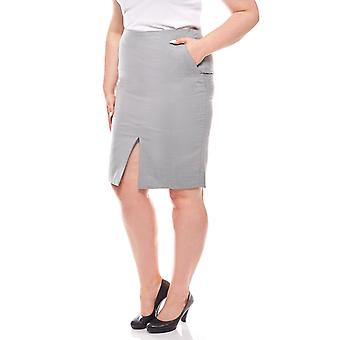 CLASS INTERNATIONAL knee-length pencil skirt plus size grey