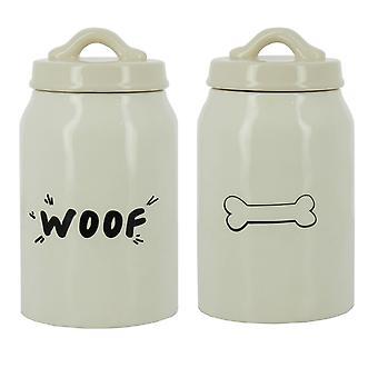 'Woof/Bone' Stoneware Dog Treat Jar