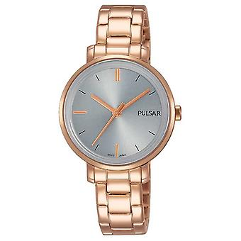 Pulsar Womans Rose Gold Stainless Steel Bracelet Grey Dial PH8362X1 Watch
