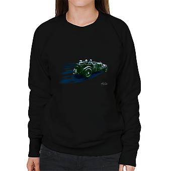 Vintage Bentley At Le Mans Race Streaks Women's Sweatshirt