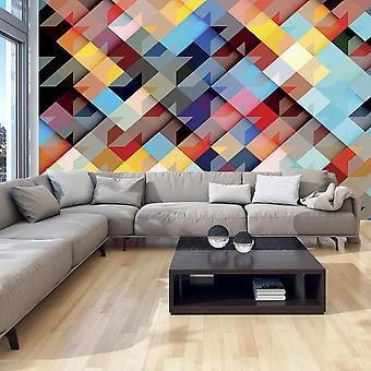 Behang - kleur Patchwork