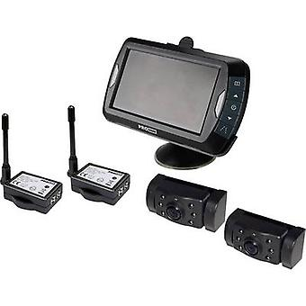 Wireless rearview camera APR043x2 ProUser 2 cameras, IR add-on light, Distance scale lines, Automatic day/night switch,