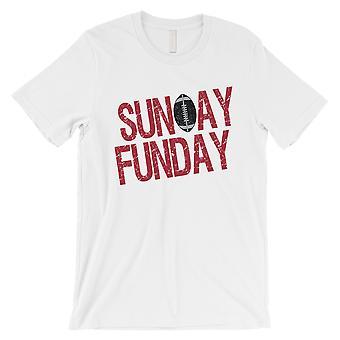 SUNDAY FUNDAY T-Shirt Atlanta Mens Funny Game Day Tee Shirt White