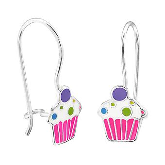 Cupcake - 925 Sterling Silver Earrings - W28665x