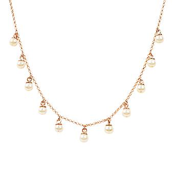 Multi Pearl Necklace rosegold