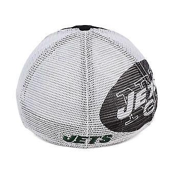 New York Jets NFL 47 Brand Mesh Closer Stretch Fitted Hat