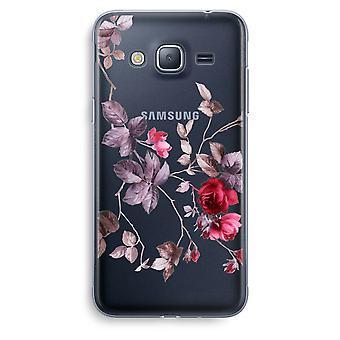 Samsung Galaxy J3 (2016) Transparent Case (Soft) - Pretty flowers