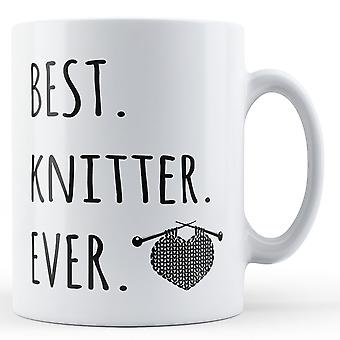 Best. Knitter. Ever. - Printed Ceramic Mug